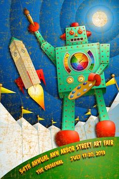 Geoffrey Harris' collection of tin toys is the inspiration for his digital paintings. All the artwork is created on a computer with a digital graphics tablet using drawing and painting software programs. Check out more of his work at link: http://www.geoffreyaaronharris.com/