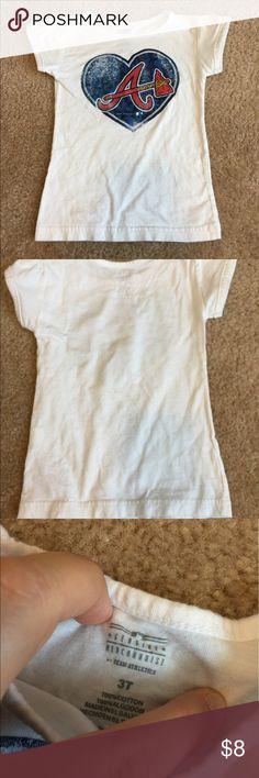 "Atlanta Braves 3T heart ""A"" shirt Atlanta braves heart shirt. Good used condition. Size 3t Geniune Merchandise Shirts & Tops Tees - Short Sleeve"
