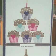 Birthday card that I made for my friend Desiree's daughter. I made it ALL by myself!!! Lol