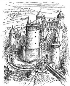 48 best Castle Coloring Pages images on Pinterest | Coloring sheets ...