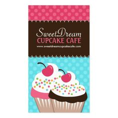 Colorful stripes cup cake bakery business card make your own cute and whimsical cupcake bakery business cards created by colourfuldesigns this design is available on several paper types and is totally customizable reheart Choice Image