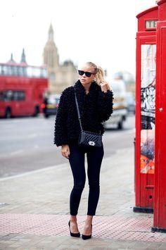 All black + fur