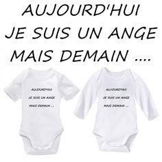 #Bodie #bébé texte #humour personnalisé de différents  messages pour mamie, papi, maman, papa  manches longues ou manches courtes  http://www.bebe-abord.com/23-body-humour