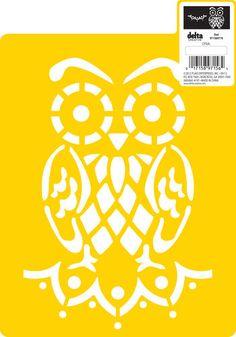 """Delta Stencil Mania™ - Owl, 7""""x10"""""""