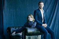 Hey girl, this is as hot as it gets. La La Land's Emma Stone and Ryan Gosling photographed at our #TIFF16 portrait studio. : @matthewbrookesphoto