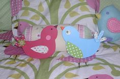 Wooden Birdie wall hanging by TheWoodenOwl on Etsy, $24.00