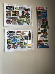 Just wanna share my DIY fridge magnet collection display. My 2 year old keeps on destroying our fridge magnets so I decided to do this...