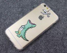 Dinosaurio esperando a comer Apple Lindo Teléfono Funda Flexible Para Iphone 5/5s/6 / 6s Plus