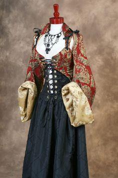 corset and jacket