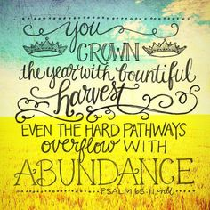 Psalm 65:11 (NLT)