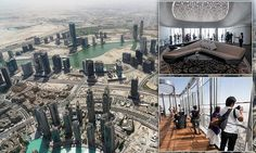 A new observation deck has been constructed on the 2,717ft Burj Khalifa skyscraper that visitors can now pay to ride up to the 148th floor. The previous observation deck is still operational on the 124th floor.