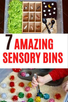 Looking to liven up your sensory play with some new ideas? Or, are you new to sensory bins and looking for some direction? Check out all of our ideas for endless sensory fun! #sensoryplay #sensorybin #toddleractivities #playathome Toddler Fine Motor Activities, Sensory Activities Toddlers, Sensory Bins, Sensory Play, Crushed Oreos, Play Based Learning, Imaginative Play, Pattern Blocks, Homeschooling