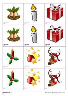 Librairie,Interactive , Jeux de memory de Noël