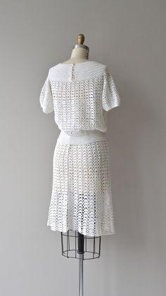 Bestway crochet dress vintage 1930s crochet dress от DearGolden