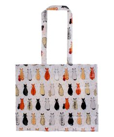 Another great find on #zulily! Cats in Waiting Coated Cotton Tote Bag #zulilyfinds