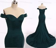 Hunter Green Mermaid Evening DressHandmade by customdress1900