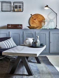 Salontafel met beton look