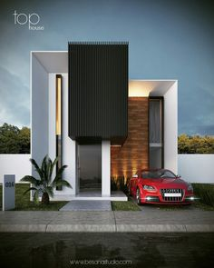 The modern home exterior design is the most popular among new house owners and those who intend to become the owner of a modern house. Villa Design, Facade Design, Exterior Design, House Front Design, Modern House Design, Building Design, Building A House, House Elevation, Facade House