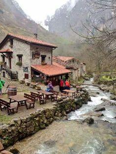 Bulnes, Cabrales, Asturias Wonderful Places, Great Places, Beautiful Places, Places Around The World, Around The Worlds, Places To Travel, Places To Visit, Asturias Spain, Basque Country