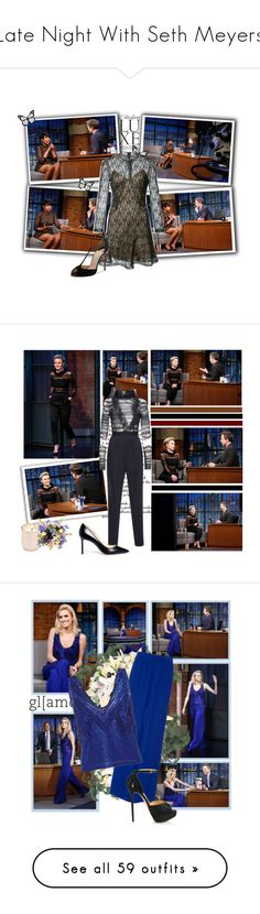 """""""Late Night With Seth Meyers"""" by snugget9530 ❤ liked on Polyvore featuring Alexander Wang, Christian Louboutin, Jonathan Adler, Fendi, Malone Souliers, Diane James, Olsen, Magda Butrym, Gianvito Rossi and H&M"""