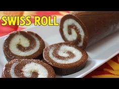 (146) No Bake Swiss Roll / Cookies | Quick Easy Chocolate Recipe | Easy Dessert Recipes | Kanak's Kitchen - YouTube