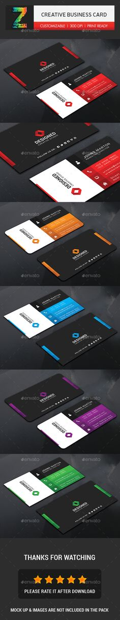 Creative Business Card - Business Cards Print Templates Download here : https://graphicriver.net/item/business-card-bundle/19404928?s_rank=2&ref=Al-fatih