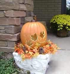 DIY Solar Lit Carved Craft Pumpkins — Including instructions on how to carve a craft pumpkin. The Greenbacks Gal