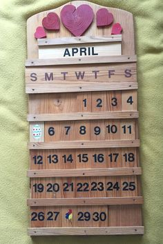 Wooden calendars handcrafted perpetual wooden calendars home decor pinterest crafts - Wooden perpetual wall calendar ...