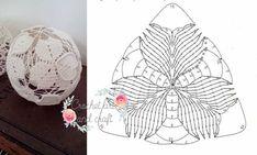 Zdjęcie użytkownika Crochet art and craft. - Her Crochet Art Au Crochet, Crochet Ball, Crochet Motifs, Crochet Diagram, Crochet Chart, Crochet Squares, Crochet Doilies, Crochet Christmas Decorations, Crochet Decoration