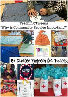 Community Service Projects for Tweens! Whether you are also leading a tween/teen group who is looking for service project ideas or are just wanting to do something to give back as a family- here are some ways to explain Why is community service importa Service Projects For Kids, Community Service Projects, Community Project Ideas, Teen Projects, Project Projects, Conquistador, Sleepover Party, Service Club, Service Ideas