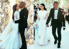 Kim Kardashian and Kanye West tied the knot in Italy this weekend, he wore a custom made Givenchy Suit and she wore a floor length Givenchy Haute Couture gown.