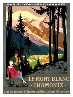 Mont Blanc, Chamonix Giclee Print by Roger Broders - AllPosters.co.uk