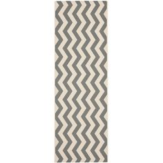 Safavieh Indoor/ Outdoor Courtyard Grey/ Beige Rug (2'3 x 12') , Size 2'3 x 12' (Synthetic Fiber, Geometric)