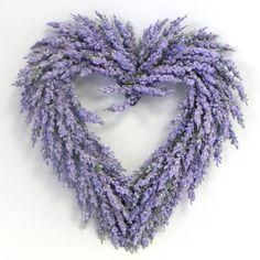 dekorace - věnec Levandule - srdce