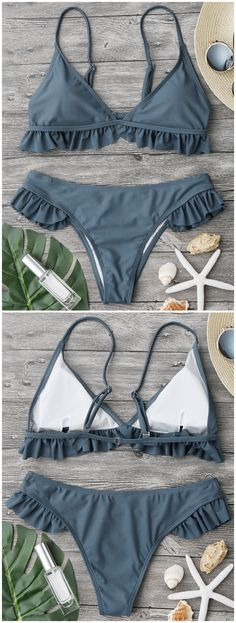 Up to 80% OFF! Ruffle Padded Plunge Bikini Set. #Zaful #Swimwear #Bikinis zaful,zaful outfits,zaful dresses,spring outfits,summer dresses,Valentine's Day,valentines day ideas,cute,casual,fashion,style,bathing suit,swimsuits,one pieces,swimwear,bikini set,bikini,one piece swimwear,beach outfit,swimwear cover ups,high waisted swimsuit,tankini,high cut one piece swimsuit,high waisted swimsuit,swimwear modest,swimsuit modest,cover ups @zafulbikini Extra 10% OFF Code:zafulbikini