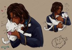 "ace-artemis-fanartist:  "" Alucard Emery and his lucky charm.  Who needs fluff after A Conjuring of Light?  """