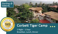 Book Corbett Tiger Camp Resort in Just @5000 including breakfast+Lunch+ dinner for 2 Adult.