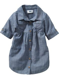 Chambray Shirt Dress for Baby Product Image
