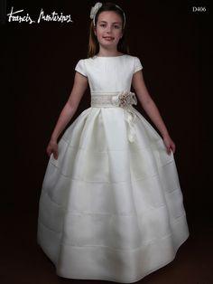Tips de moda en los vestidos de comunión para niñas: Tejidos rústicos de lujo