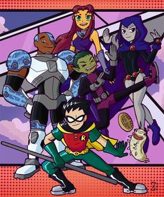 Teen Titans: 10 Years by Zebesian
