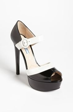 Prada Mary Jane Sandal available at #Nordstrom for my make believe closet if I was not a poor girl with expensive taste.