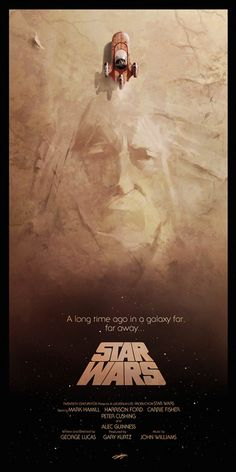 An alternative movie poster for the film Star Wars: Episode IV - A New Hope, created by Andy Fairhurst, featured on AMP. Star Wars Fan Art, Star Wars Episódio Iv, Nave Star Wars, Star Wars Poster, Cultura Pop, Harison Ford, Decoracion Star Wars, Millenium, Star Wars Prints