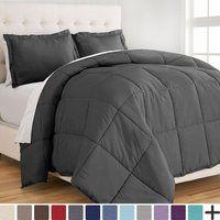 Ellison Cozy Winter Nordland 4 Piece Comforter Set Twin Charcoal