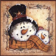 Happy Snowman Fine-Art Print by Mary Ann June at FulcrumGallery.com