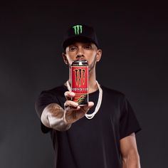 """60.6k Likes, 539 Comments - Lewis Hamilton (@lewishamilton) on Instagram: """"Here it is. Very proud to share with you my signature @monsterenergy drink, '44'. Really enjoyed…"""""""