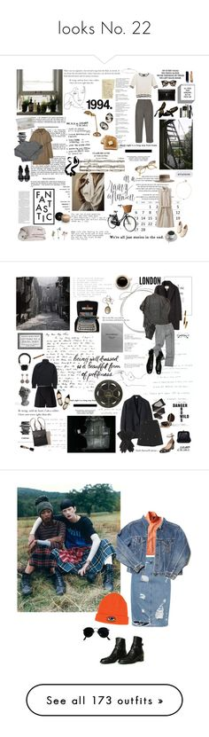 """""""looks No. 22"""" by angel1202003-1 ❤ liked on Polyvore featuring Retrò, Monki, Chanel, Uniqlo, Gucci, Alexander McQueen, Brixton, A.P.C., Isson and Yves Saint Laurent"""