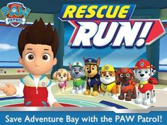 PAW Patrol Rescue Run HD by Nickelodeon - an arcade game featuring PAW Patrol characters. Appysmarts score: 83/100