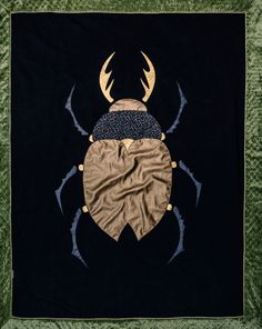 Brown beetle blanket