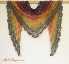 AlliEls-Min kreativa sida: Virkad sjal i underbara höstfärger.