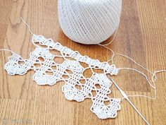 Bruges Lace Crochet - Old Technique and Fashion Design - Very similar to Doilie Crochet - thinner thread, tiny stitching